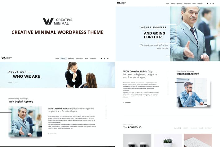 Thumbnail for WON Creative Minimal WordPress Theme
