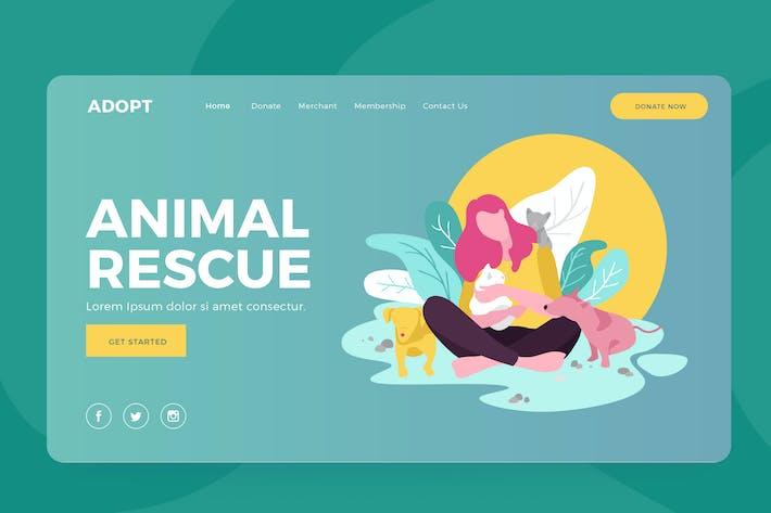 Thumbnail for Animal Rescue - Landing Vector Illustration