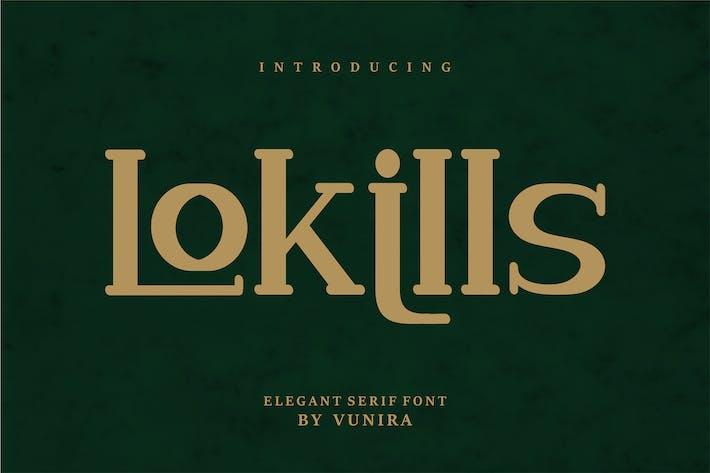 Thumbnail for Lokills   Elegante fuente de Con serifa