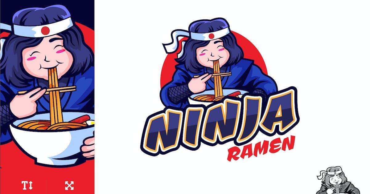 Download Cute Ninja Ramen Logo Illustration Vector by naulicrea