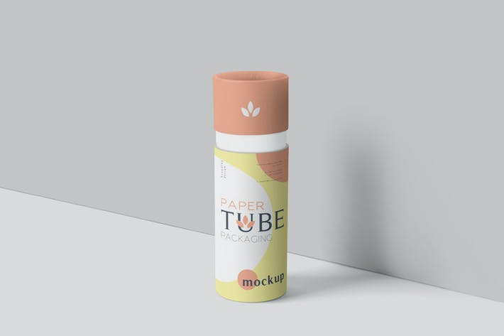 Thumbnail for Paper Tube Packaging Mockup Set - Slim