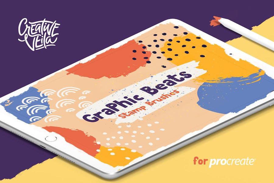 Graphic Beats: Procreate Brushes