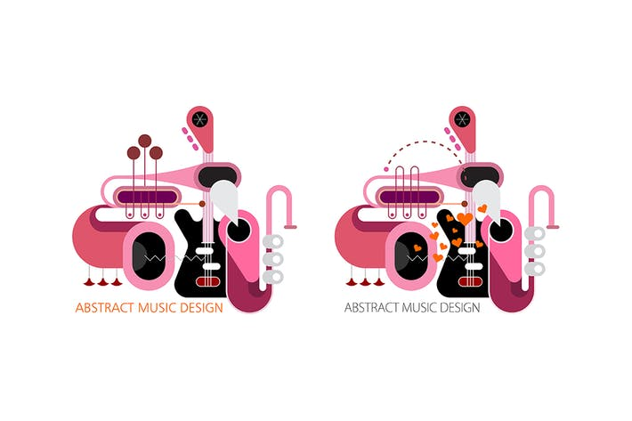 Thumbnail for 2 options of Abstract Music vector designs