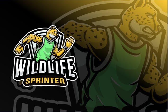 Wildlife Sprinter Sport Logo Template