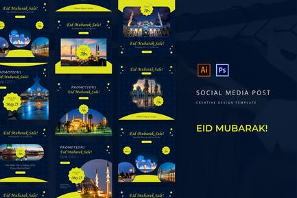 Eid Mubarak Instagram Post Template