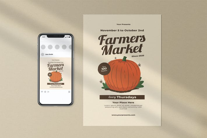 Thumbnail for Farmers Market Flyer