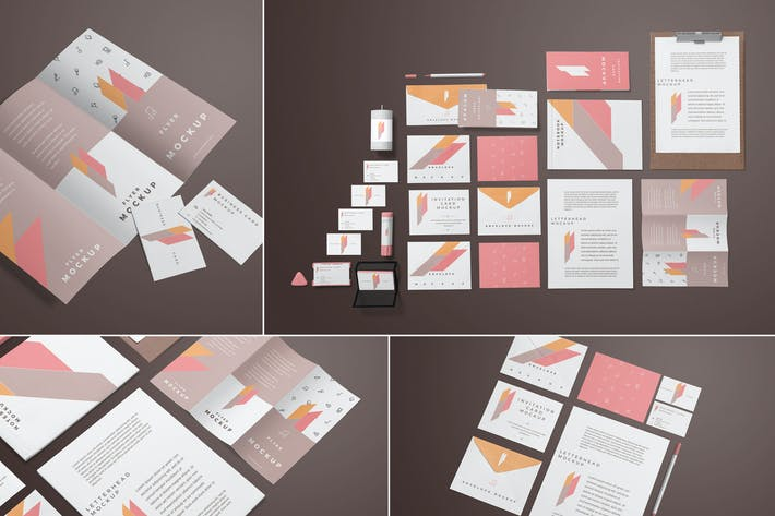 Thumbnail for Corporate Stationery Branding Mockups