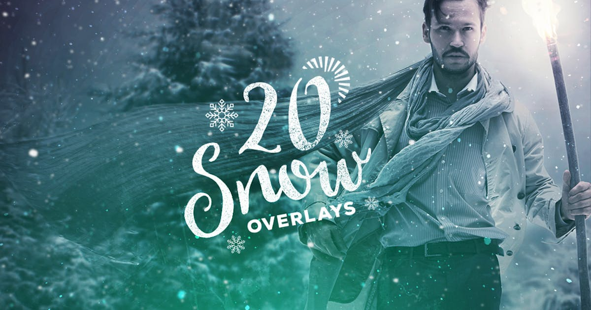Download 20 Snow Overlay Textures by Layerform