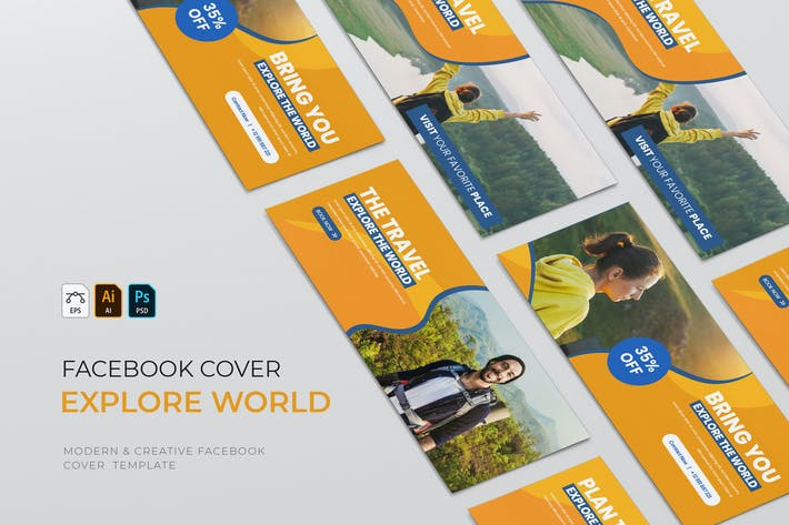 Thumbnail for Explore The World | Facebook Cover