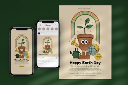 Earth Day Plant Tree Flyer & Instagram