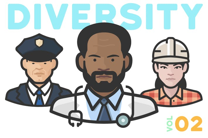 Thumbnail for Diversity Avatars v2 - Volume 02