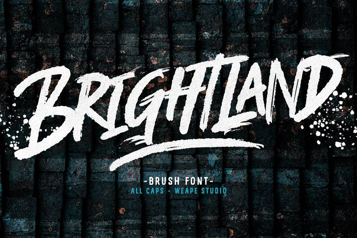 Thumbnail for Brightland Brush Font