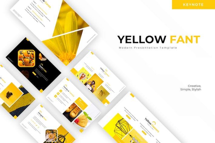 Thumbnail for Yellow Fantasy - Keynote Template