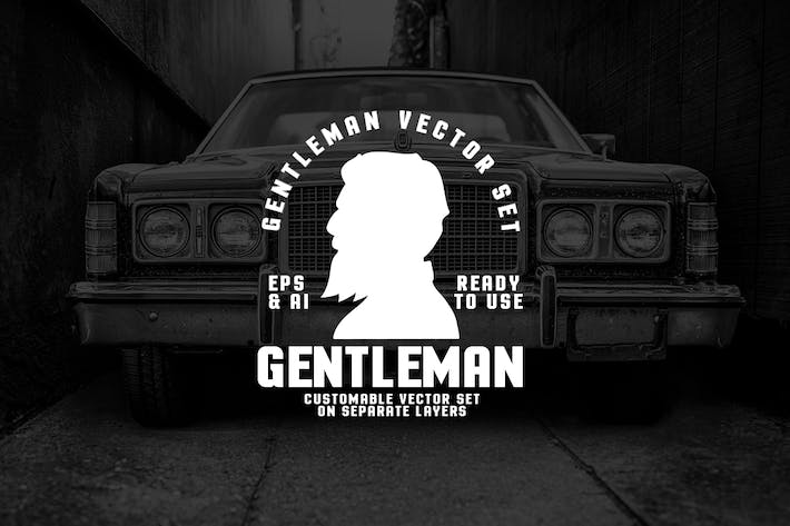 Cover Image For Gentleman Styles Logo Set