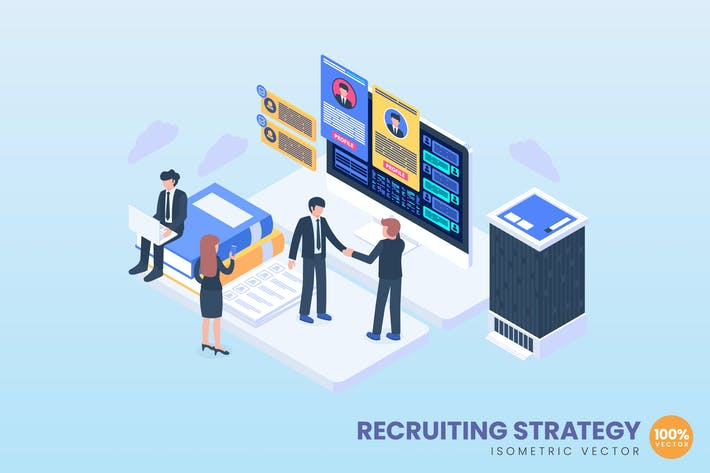 Thumbnail for Recruiting Strategy Concept Illustration