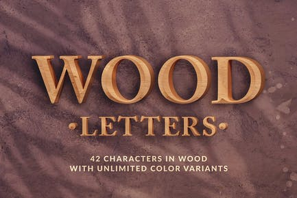 Wood Letters - 3D Alphabets and Numbers