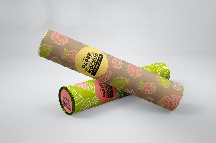 Thumbnail for Paper Tube Packaging Mockup