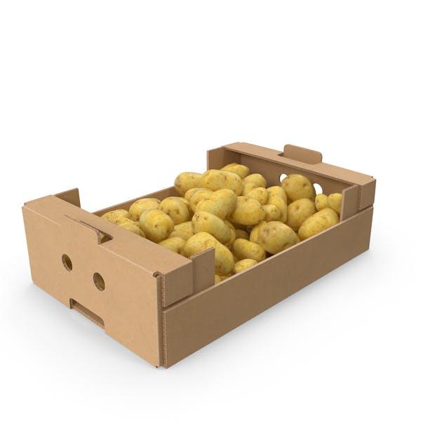 Картонная коробка картофеля