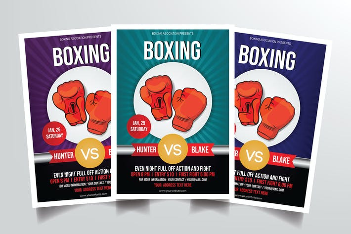 Thumbnail for Boxing Match Flyer Template