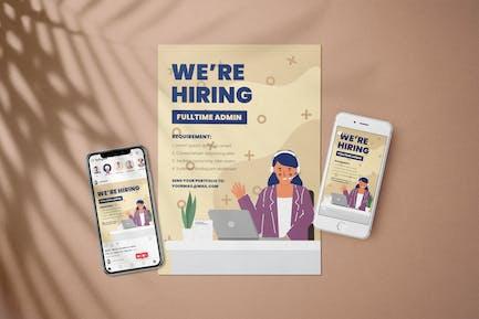Administrator Open Rekrutierung - Flyer Medienpaket