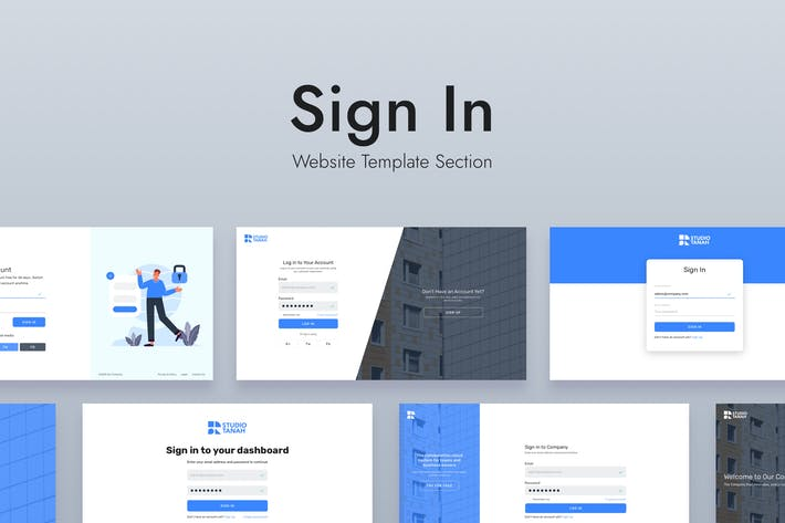 Thumbnail for Web Sign In Design Template