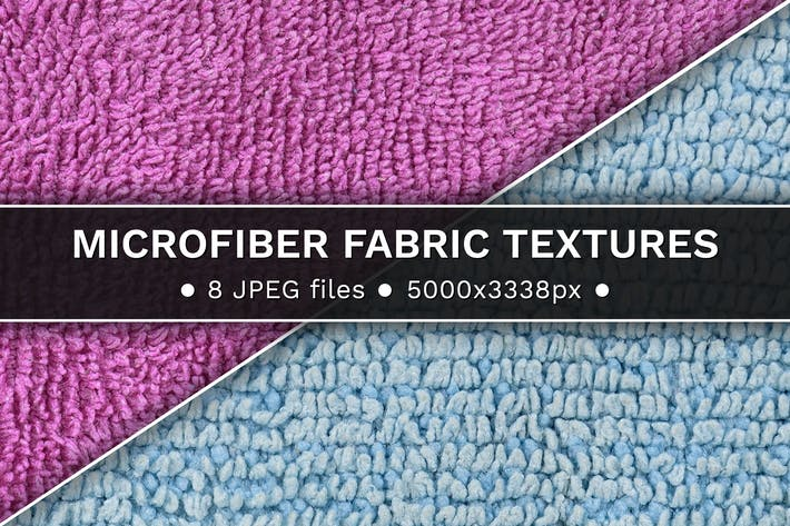 Microfiber fabric textures