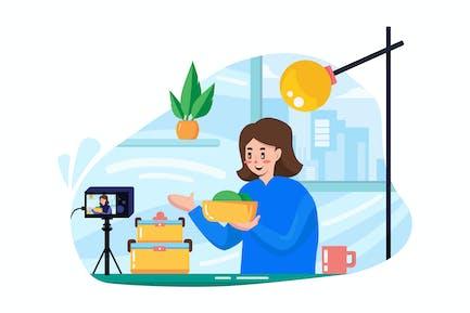 Vlogger broadcasting live event