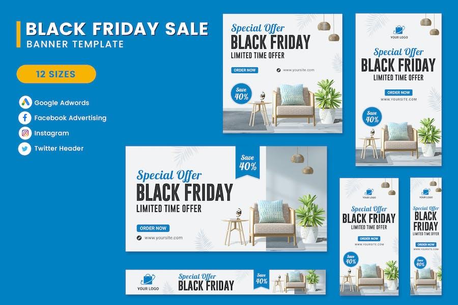 Black Friday Sale Furniture Banner Template