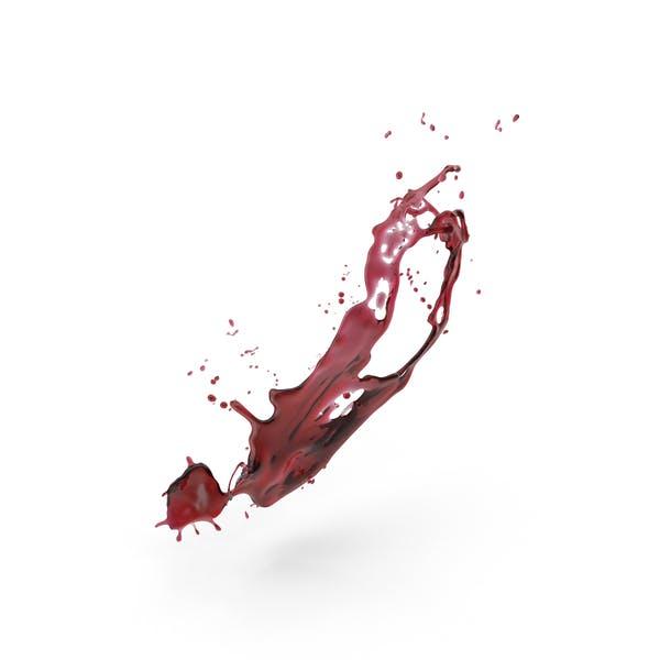 Красное вино всплеск
