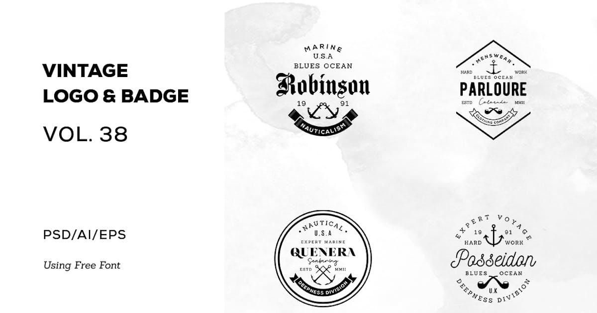 Download Vintage Logo & Badge Vol. 38 by sagesmask