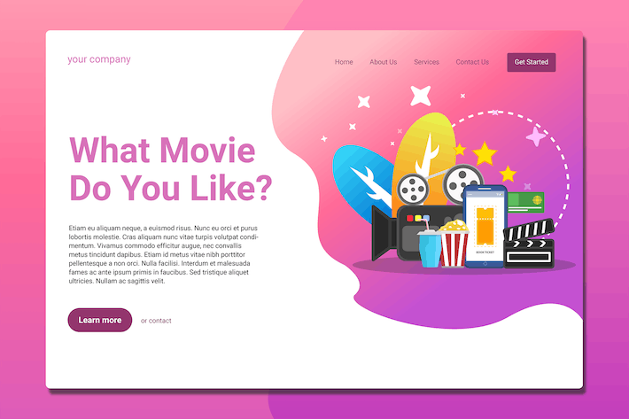Thumbnail for Streaming Media Service - Landing Page