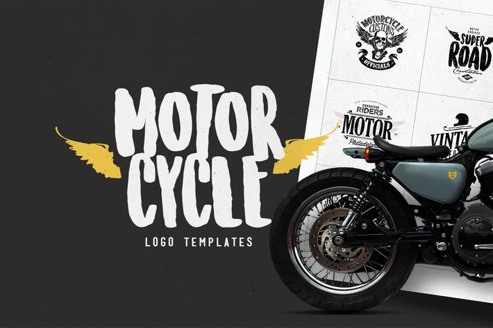 Thumbnail for Motorcycle Logo Templates