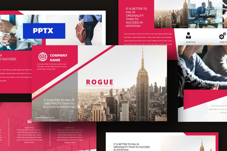 Rouge - Corporate Powerpoint