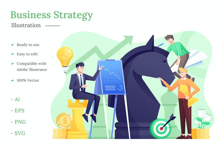 Thumbnail for Business Strategy Illustration
