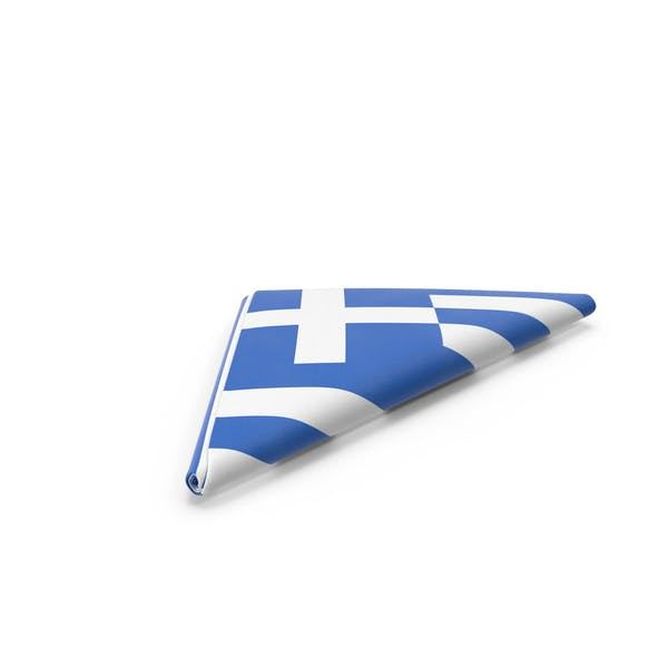 Flag Folded Triangle Greece