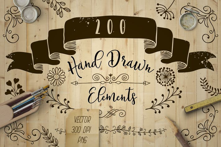 Thumbnail for Decorative Elements. Vector, PNG
