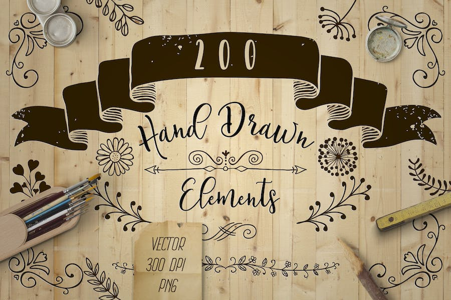 Decorative-Elements.-Vector,-PNG