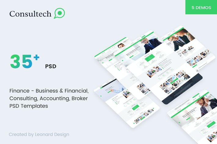 Download 731 business card templates envato elements consultech multipurpose business financial reheart Image collections