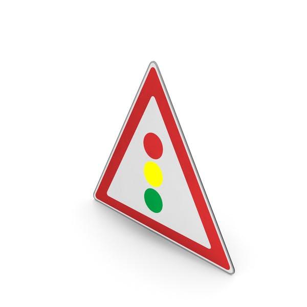 Road Sign Traffic Signals Ahead