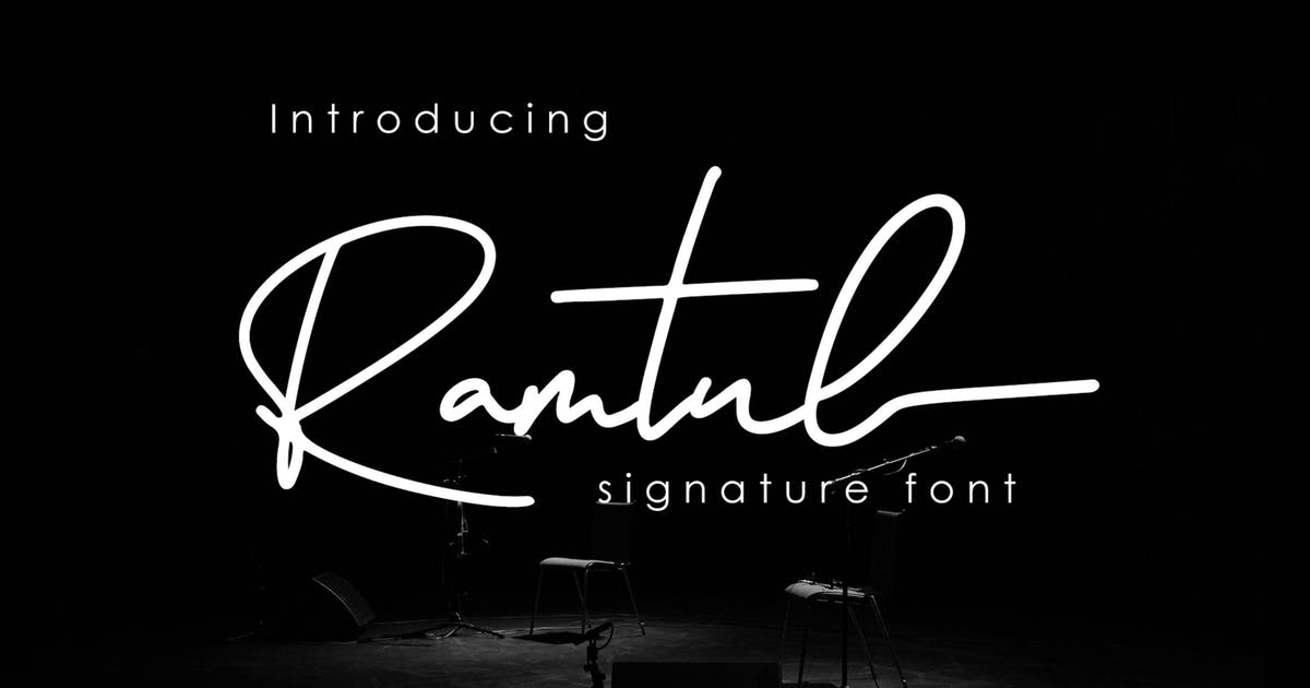 Download Ramtul - Signature Font by DmLetter