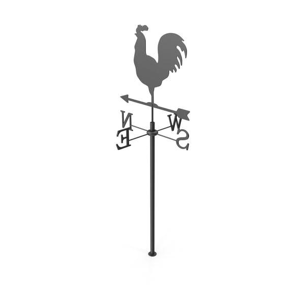 Black Rooster Hähnchen Metall Weathervane