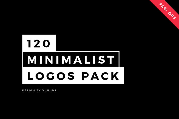 Cover Image For 120 Minimalist Logos