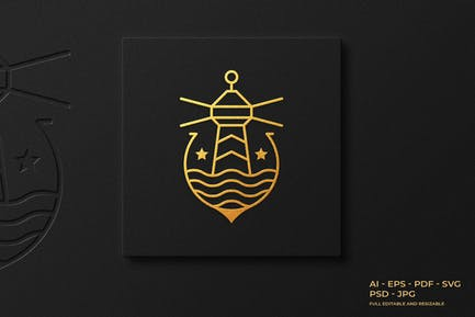Lighthouse Monoline Logo