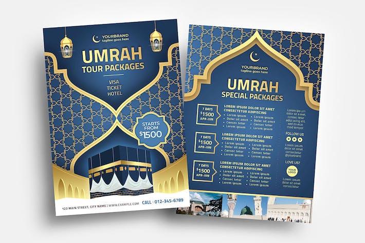 Umrah Islamic Flyer/Table tent