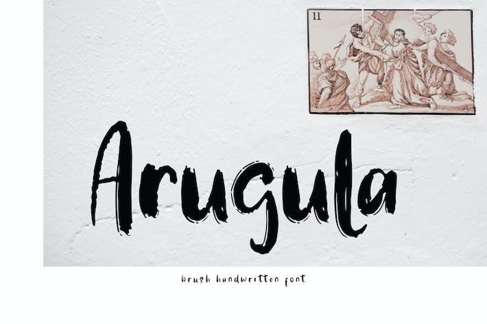 Thumbnail for Arugula Brush Handwritten Font