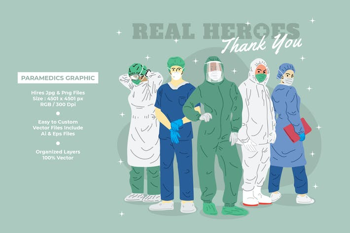 Thumbnail for Thank You Paramedic, Doctors & Nurses Graphic