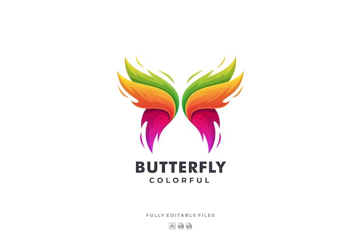 Cover Image For Butterfly Colorful Logo