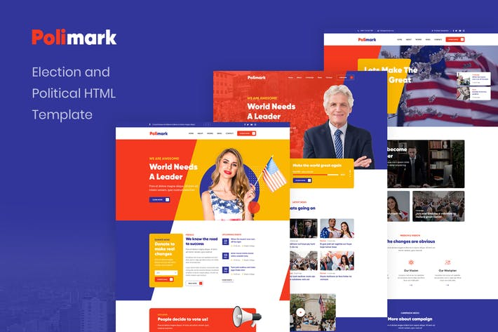 Thumbnail for Polimark - Election and Political HTML Template