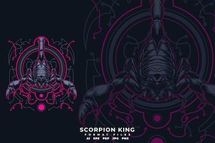 T-Shirt mit Skorpion-König
