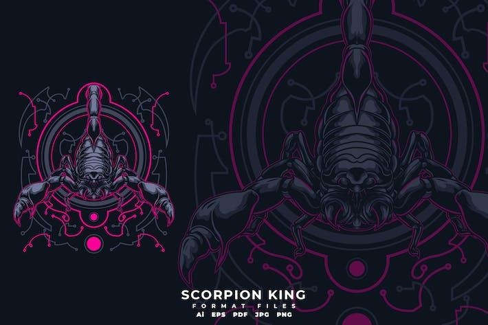 Thumbnail for T-Shirt mit Skorpion-König